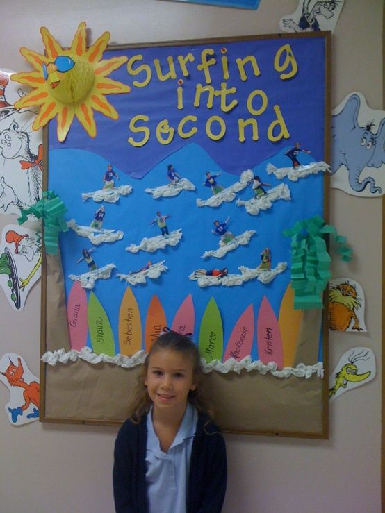 Surfing, Bulletin boards and Second grade on Pinterest