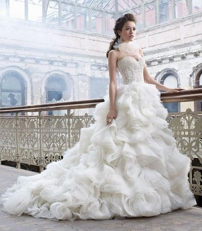 Lazaro Wedding Dresses.  While I'm not into ball gowns, this is gorgeous!