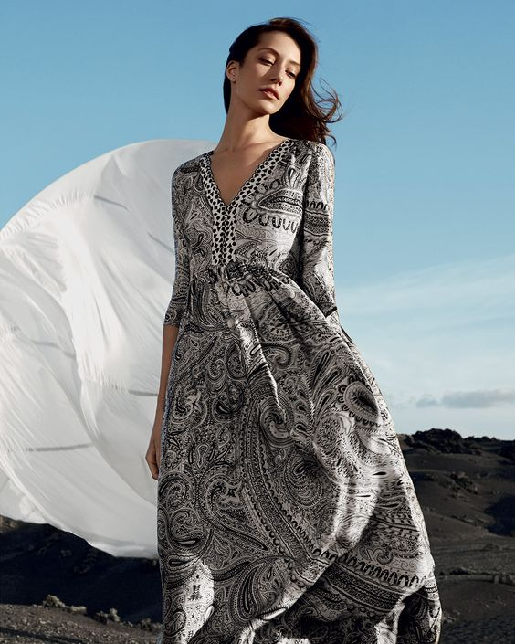 TWIN-SET Simona Barbieri, 2016 Summer collection: long dress TS625N: