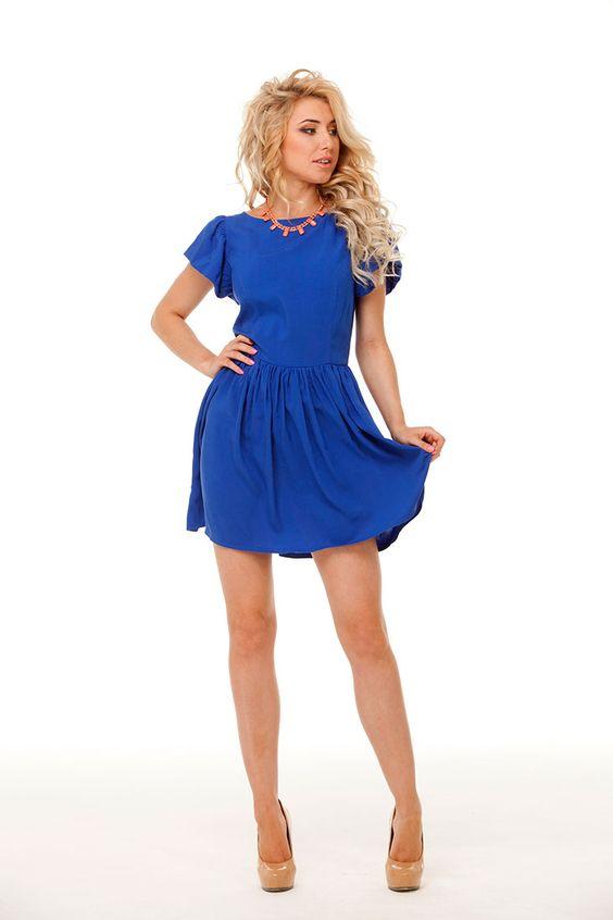 Платье синее женское украина