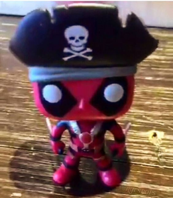 first look at pirate deadpool it is going to be hot topic exclusive