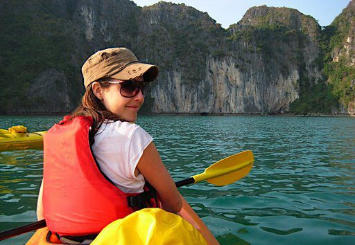 Kayak Cat Ba National Park features 3-day kayaking trip to Cat Ba National Park and its water area, which is the southern end of Halong Archipelago.