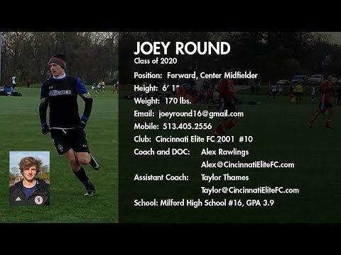 Joey Round College Soccer Recruiting Video Class Of 2020 Presented By Strengthcoach College Soccer Class Of 2020 Soccer
