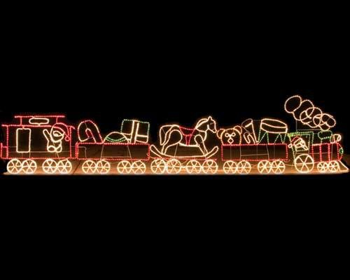 17' Rope Light Train | Trains, Outdoor christmas and Christmas:Outdoor Christmas Display - 17' Rope Light Train,Lighting