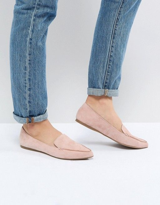 Steve Madden Feather Rose Suede Flat