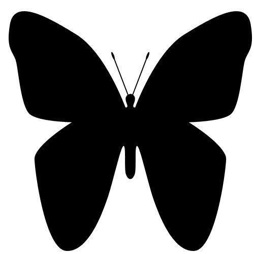 Patrones de mariposa para decorar las paredes decoraci n - Moldes para pintar paredes ...