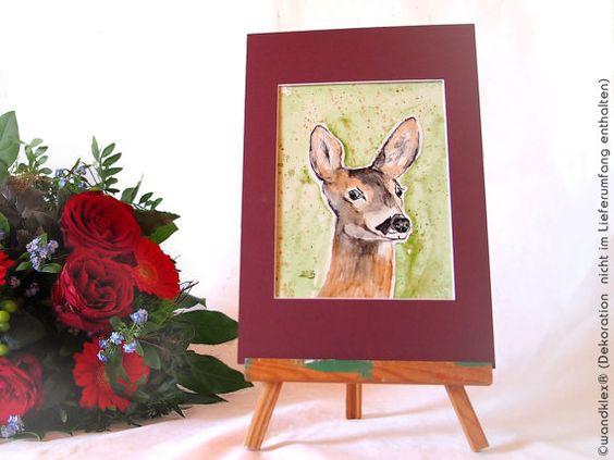 Deer in watercolor, painting deer, children's picture, animals in ...