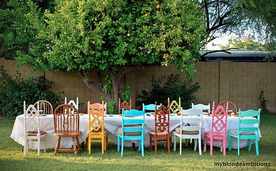Mismatched Chairs for Weddings