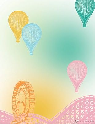 Vintage Hot Air Balloon Wallpaper For Kids