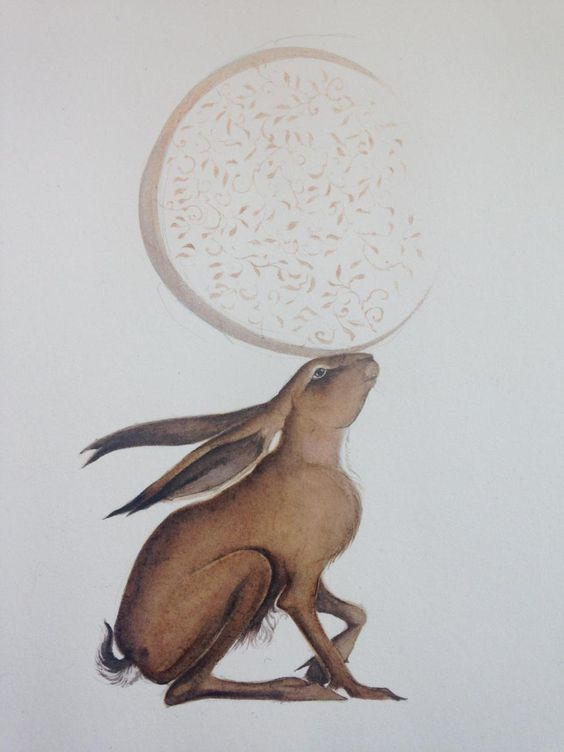 'I am the hare who plays with the moon.' - Jackie Morris