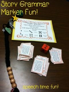 Story Grammar Marker fun in speech therapy