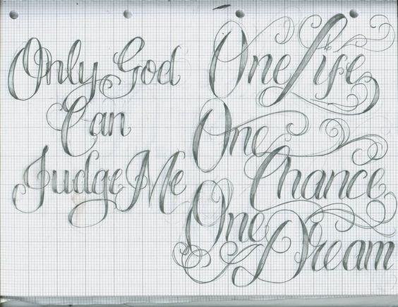 Charming Tattoo Lettering Fonts