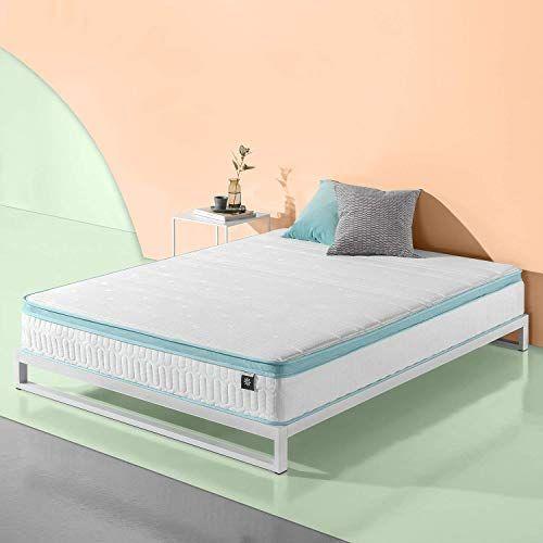 Best Seller Zinus 10 Inch Mint Green Memory Foam Hybrid Spring Mattress Full Online Looknewfashion In 2020 Mattress Springs Firm Pillows Mattress