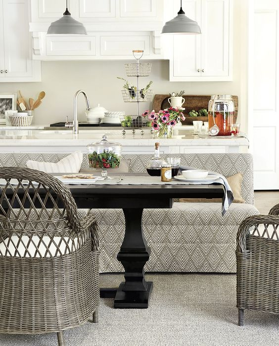 Dining Banquette With Storage: Design, Pendant Lights And Tables