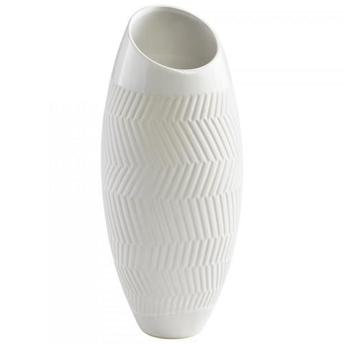 Cyan Designs 08742 Small Chevron Vase Chevron Table Vase Ceramic Vase