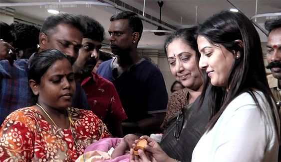 Actress Varalakshmi Sarathkumar Birthday Celebration at Egmore Children Hospital