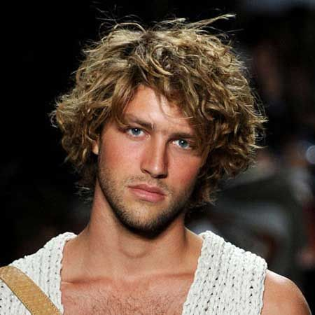 Excellent Men Curly Hairstyles Curly Hair And Men39S Hairstyle On Pinterest Hairstyles For Men Maxibearus