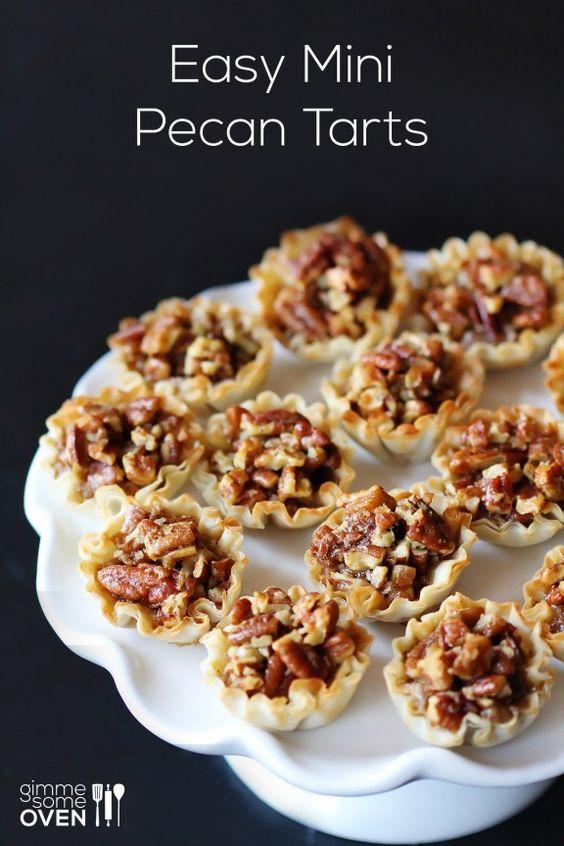 Easy Mini Pecan Tarts | gimme some oven