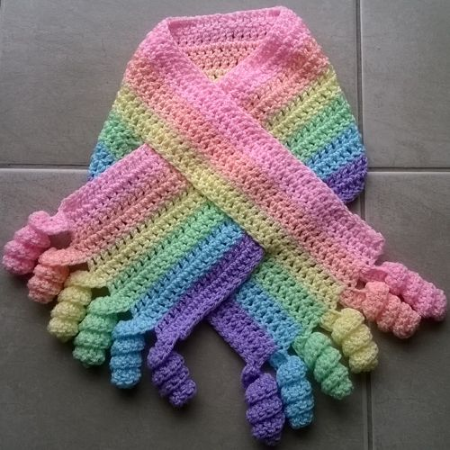 Crochet For Kids : Crochet For Children: Curly Shirley Scarf - Free Pattern