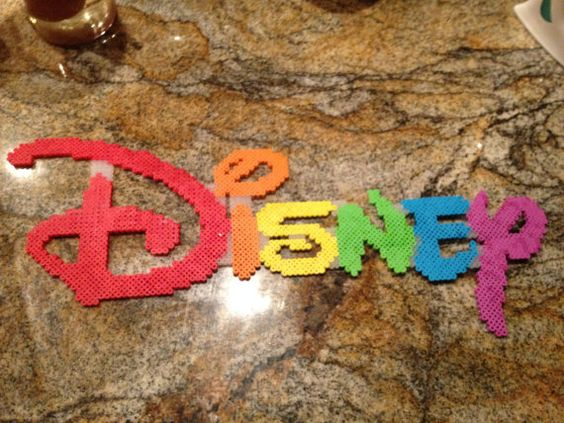 Disney rainbow perler bead by KcranceArt on Etsy
