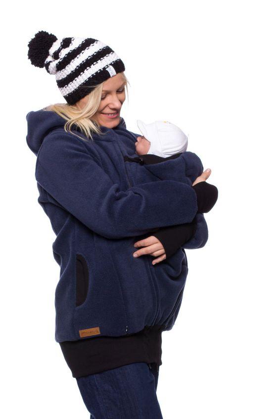 Winter-Tragejacke warme Babytragejacke von VivalaMamaBerlin auf Etsy