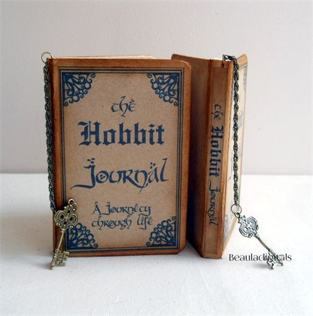 Hobbit Journal Notebook with Charmed Bookmark