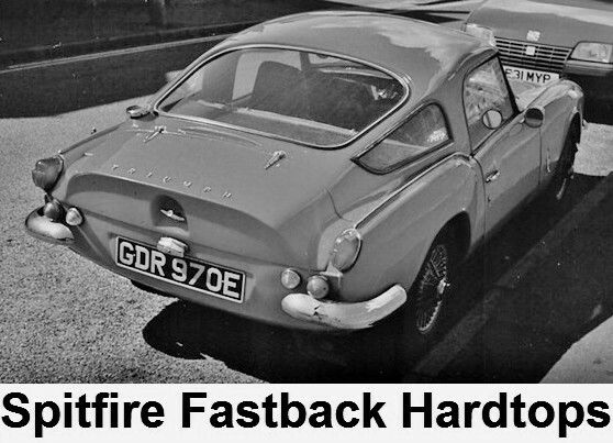triumph spitfire fastback hardtops | triumphs | pinterest