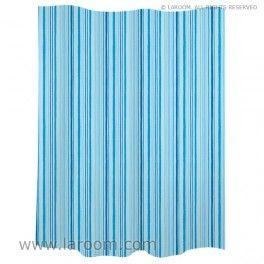 Laroom Cortina Ba O Trazos Azul Polyester Laroom