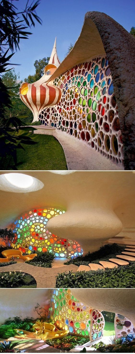 Nautilus House, designed by the brilliant Mexican architect Javier Senosiain Organic.  2007 organic architecture