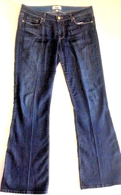 PAIGE Jeans Size 31 Skyline Premium Denim Boot Dark Wash Bootcut Stretch Women #PaigePremiumDenim #BootCut