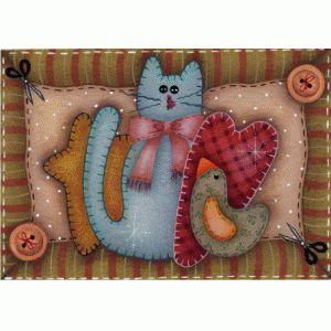 Auto adesivo gato com coração