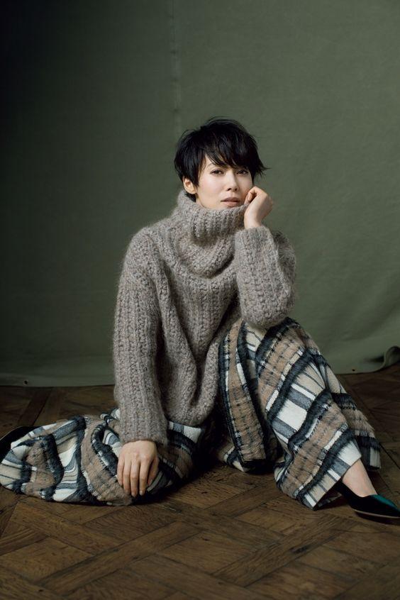 大人のおしゃれ手帖モデルの中谷美紀