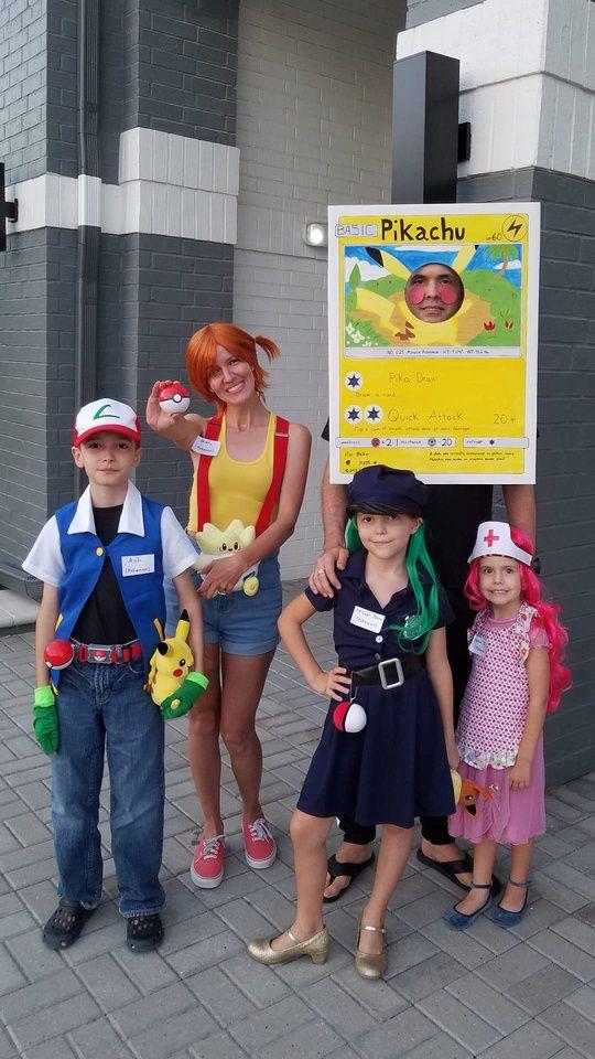 Pokemon Halloween Family Costumes Pokemon Halloween