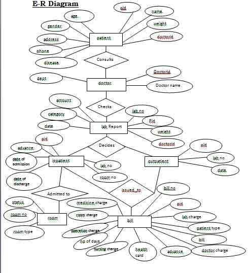 Hospital Management System Er Diagram Database Design Hospitality Management Relationship Diagram