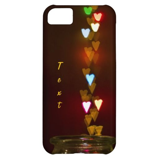 Colorful hearts iPhone 5C cover