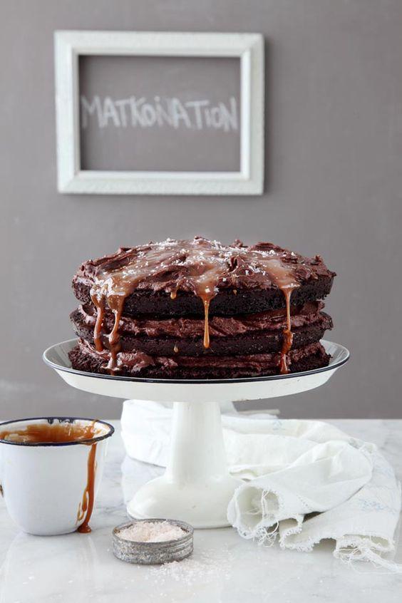 Chocolate and Salted Caramel Cake: