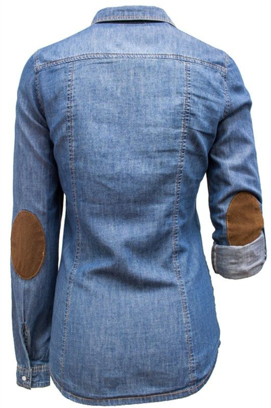 Elbow patches denim shirts and chambray on pinterest