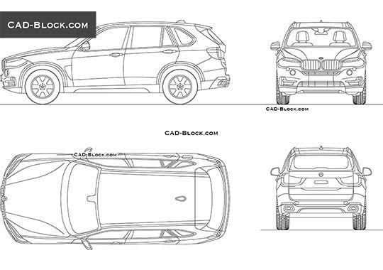 Bmw X5 2018 Free Autocad Blocks In 2020 Bmw Car Models Bmw X7 Maserati