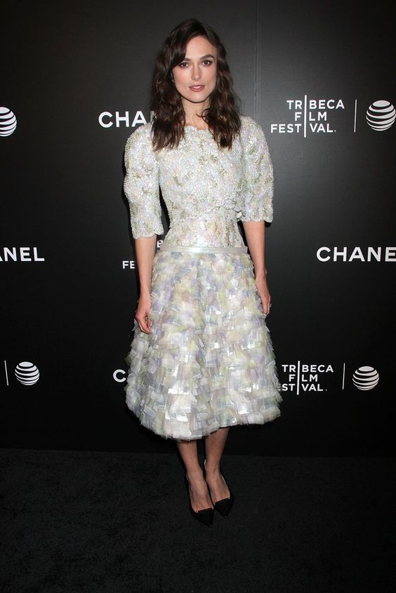 Pin for Later: Reese Witherspoon Is the Ultimate Lady Who Lunches Keira Knightley Keira Knightley in Chanel at the Tribeca Film Festival's closing night film Begin Again.