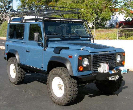 1995 Land Rover Defender 90 Arles Blue on Super Swamper tires