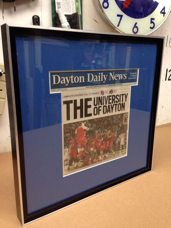 sports newspaper article framed by ptgallerycom