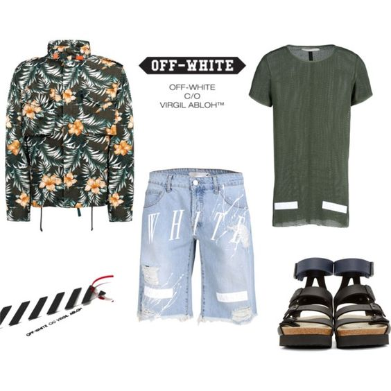 Summer Fit! by anatoliostreetz on Polyvore featuring Sacai and Off-White