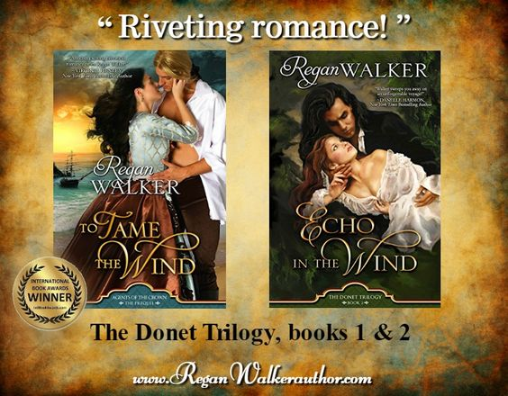 The Donet Trilogy, books 1 & 2 (book 3, A Fierce Wind, coming in 2018). To Tame the Wind is the Romance Fiction winner in the 2017 International Book Awards!
