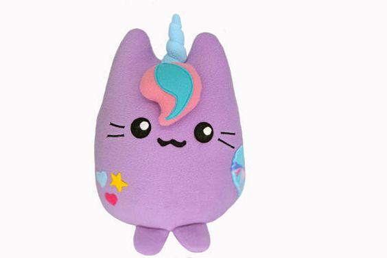 Meownicorn plushie handmade stuffed animal kawaii mewnicorn