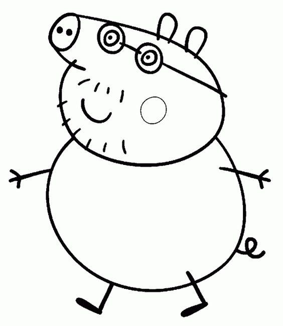 Papa Pig – Peppa Pig. Dibujos para colorear e imprimir