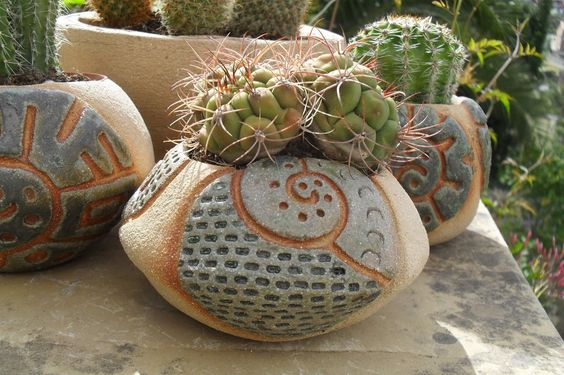 blog de artesania caracolyperejil: Macetas para cactus