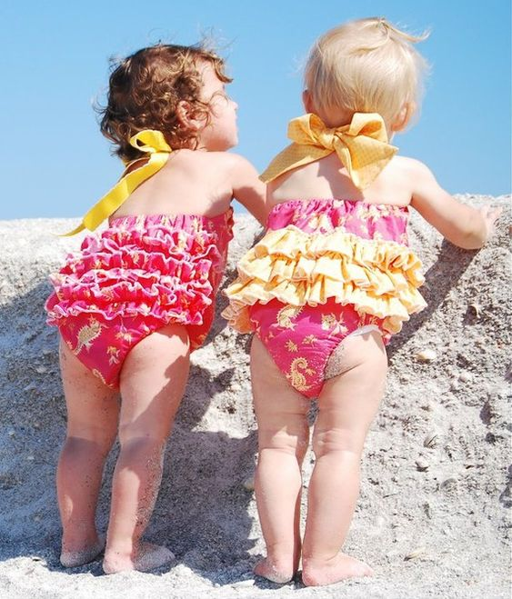 rompers: Ruffled Sun, Rompers Swimsuit, Baby Rompers, Sewing Patterns, Baby Suits