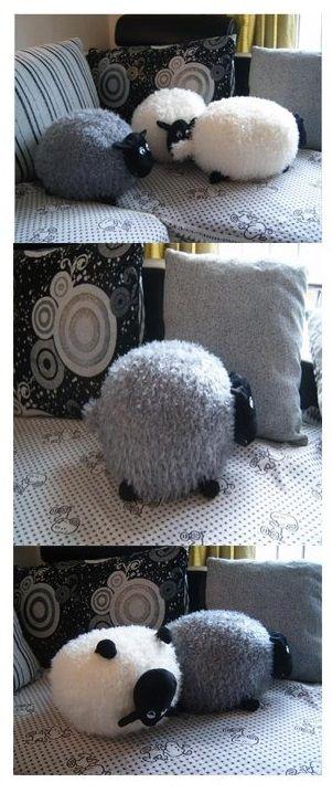 Kuschelweiches geschmeidiges Material Plüschtier und Kissen in Schafform... * Pin enthält Werbelinks