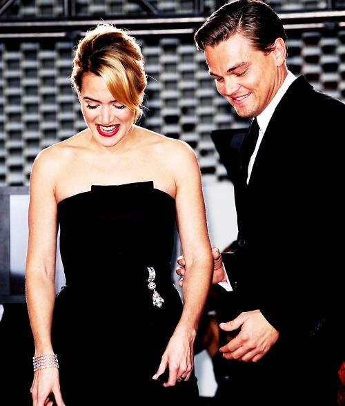 leonardo dicaprio and kate winslet. aw. love.