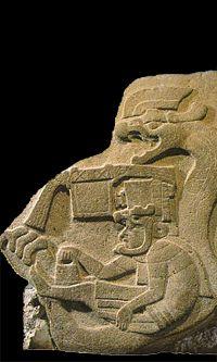 Quetzalcoatl dans son ovni-serpent http://eden-saga.com/fr/peuple-serpent-a-plumes-tapis-volants-ezechiel-hapi-nil-abydos-les-egyptiens-volants.html